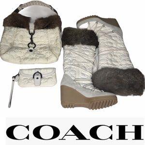 Collector Edition Coach Bundle- Bag,Wristlet,Boots